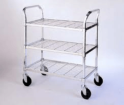 Mobile Wire Cart - Shelves