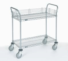 Wire Cart - Shelf and Basket